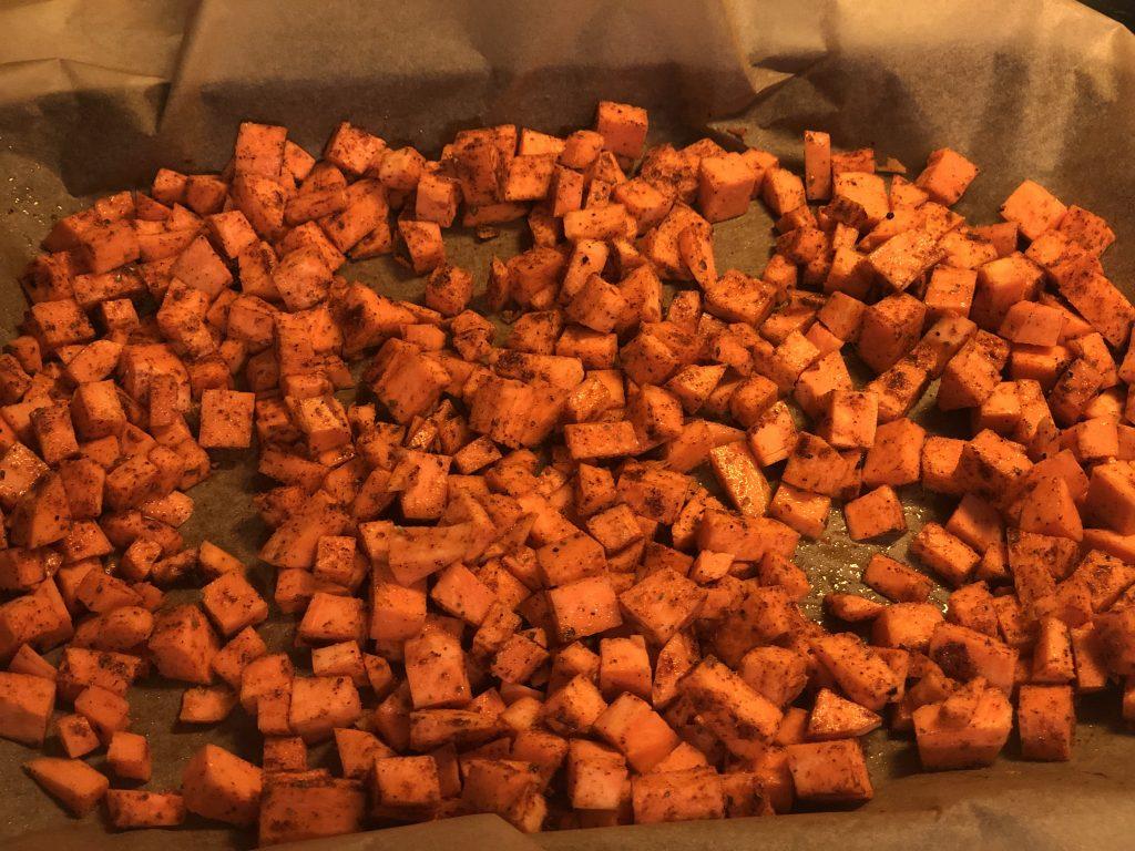 Taco Spiced Roasted Sweet Potatoes
